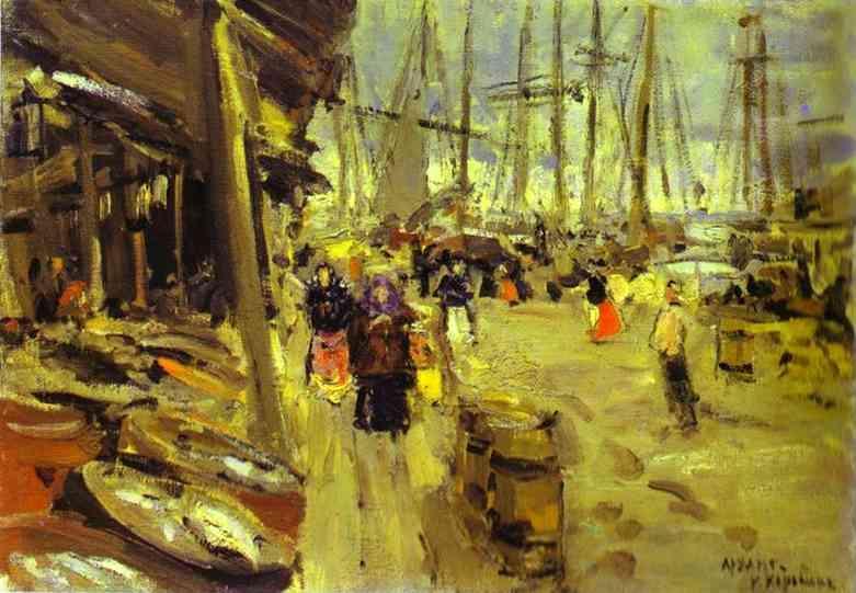 Pier in Arkhangelsk - Konstantin Korovin