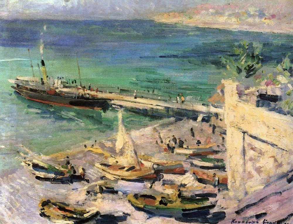 Pier in the Crimea  - Konstantin Korovin