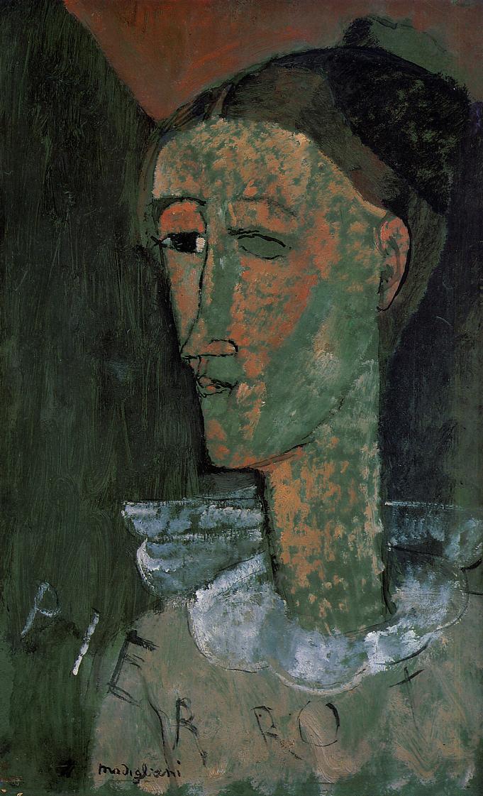 Pierrot (Self Portrait as Pierrot) - Amedeo Modigliani