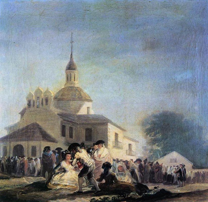 Pilgrimage to the Church of San Isidro - Francisco Goya
