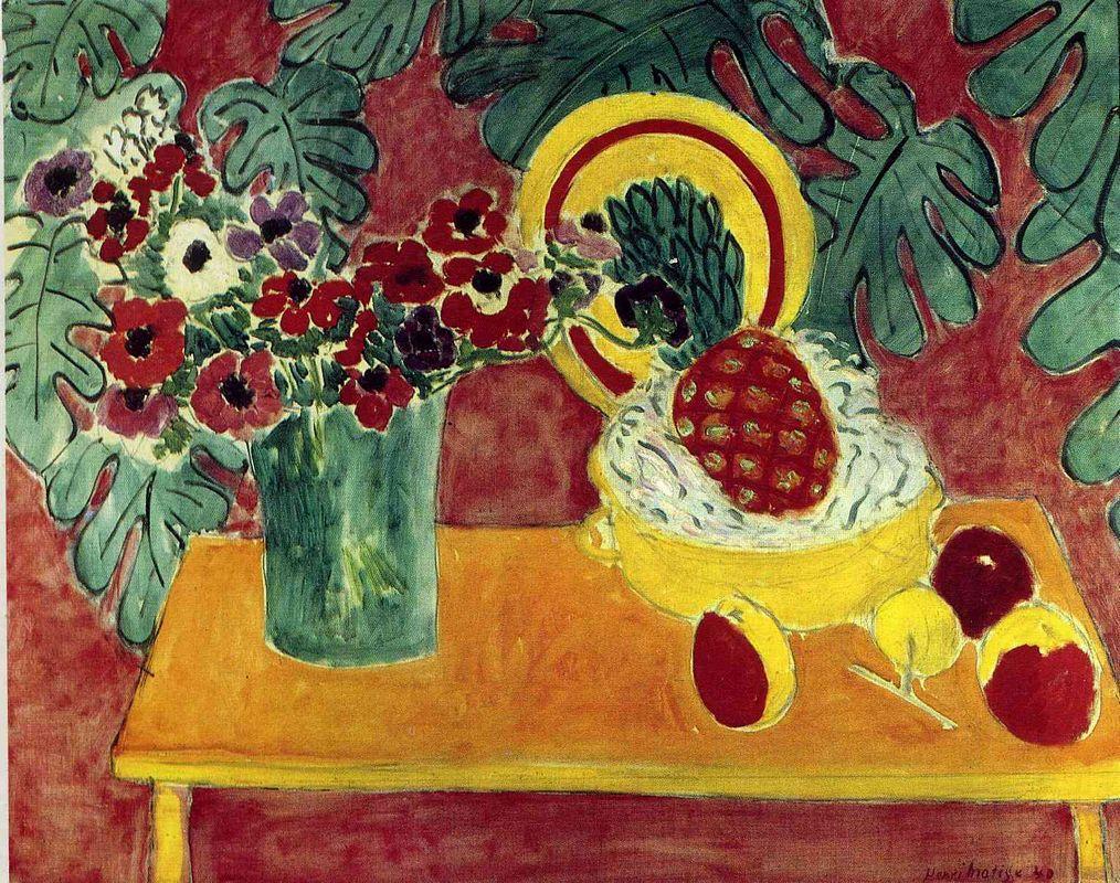 Pineapple and Anemones - Henri Matisse