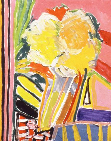 Pink Flower Painting - Ronnie Landfield