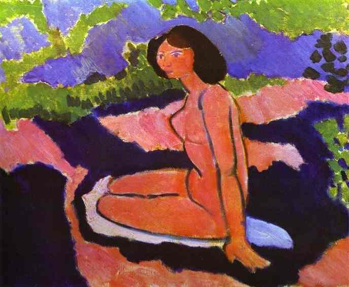 Pink Nude, or Seated Nude  - Henri Matisse