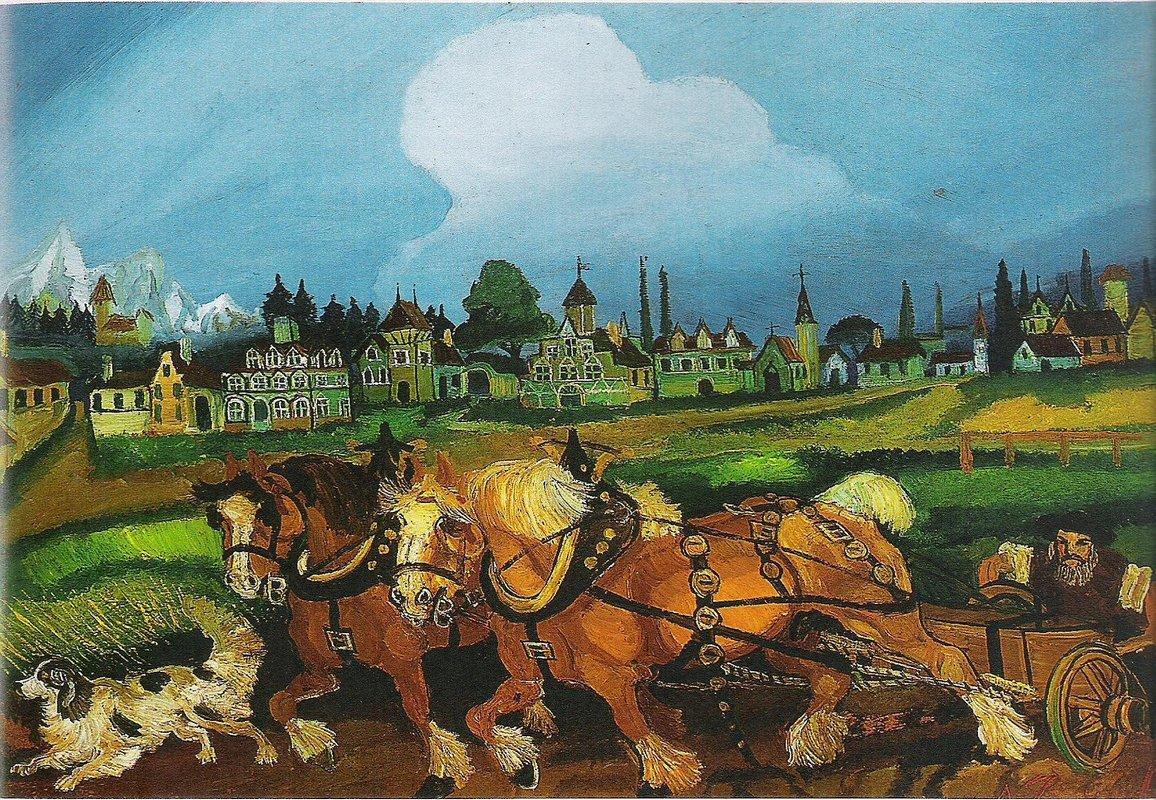 Planting with horses - Antonio Ligabue