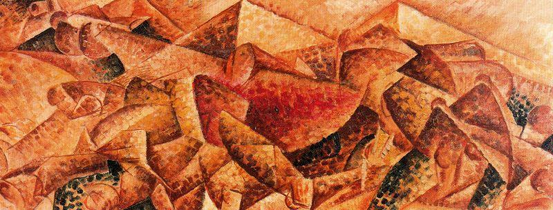 Plastic Dynamism: Horse+House - Umberto Boccioni