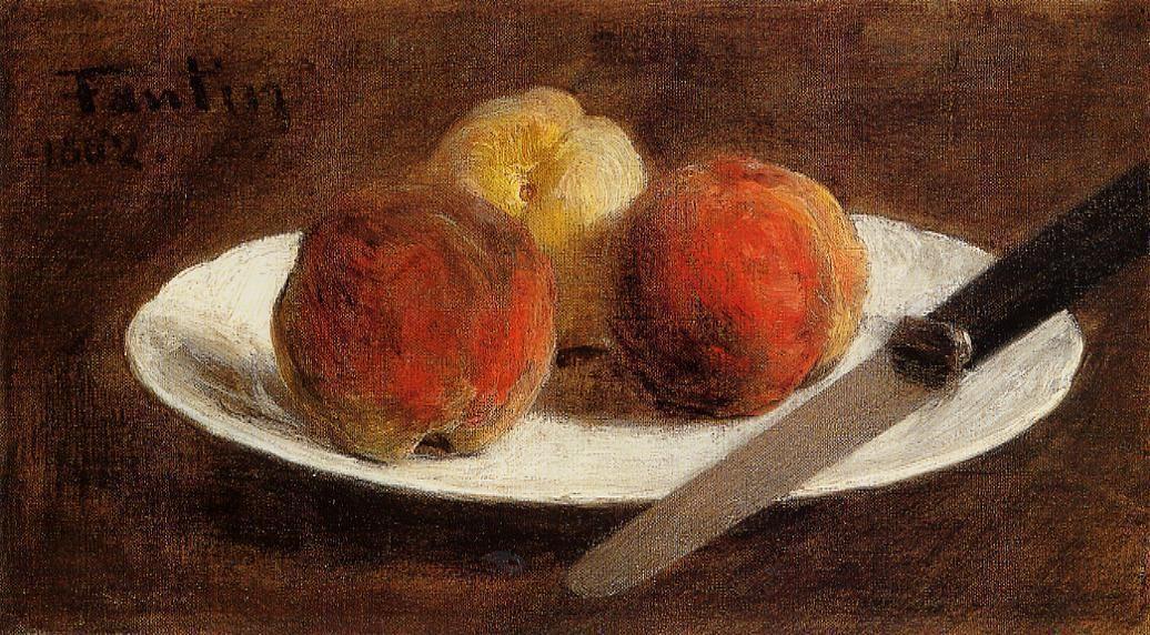Plate of Peaches - Henri Fantin-Latour