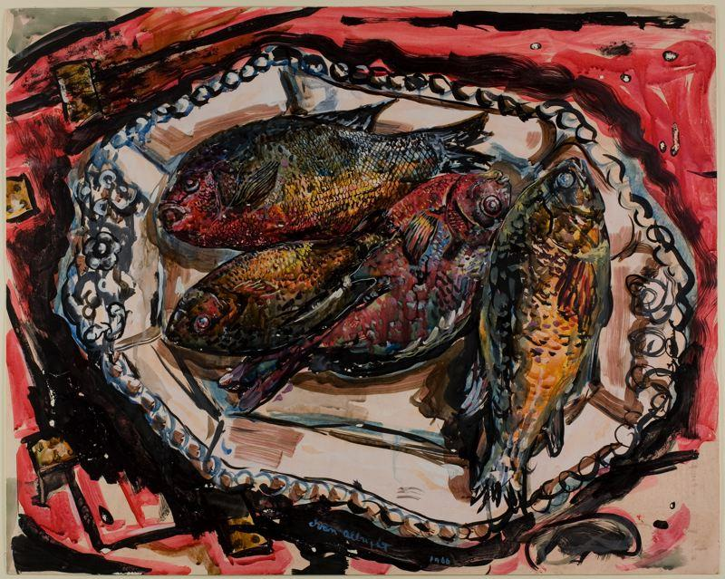 Platter under Georgia Fish - Ivan Albright