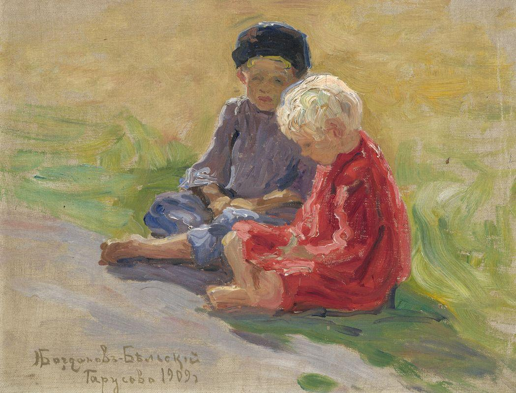 Playing Children - Nikolay Bogdanov-Belsky