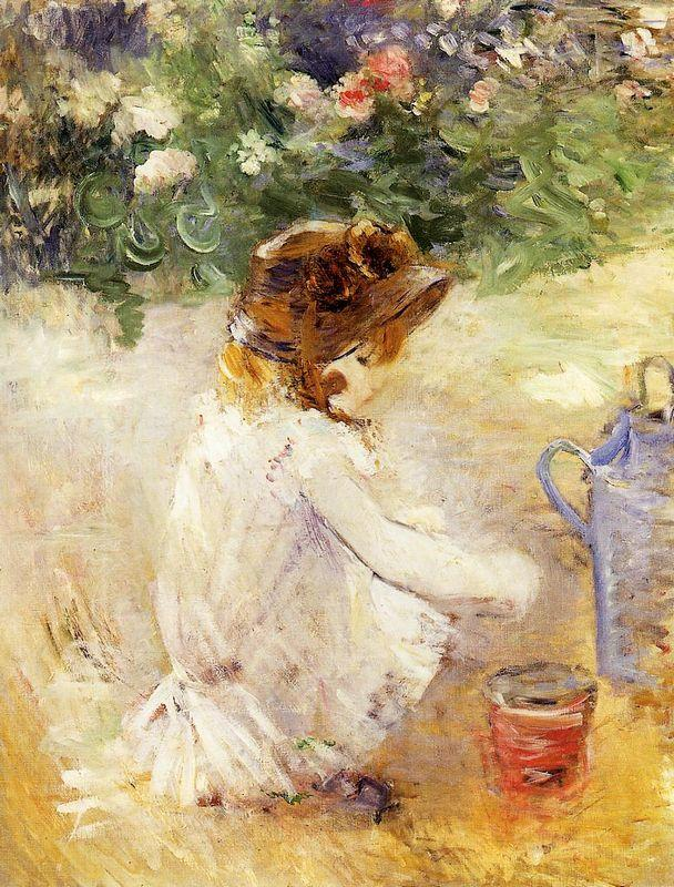 Playing in the Sand - Berthe Morisot