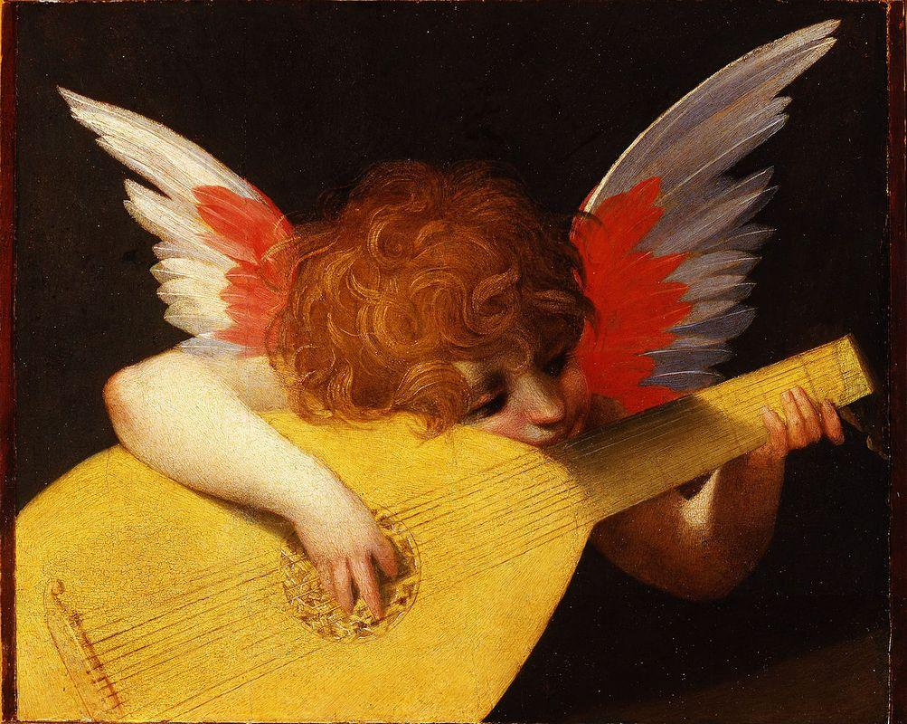 Playing putto (Musician Angel) - Rosso Fiorentino