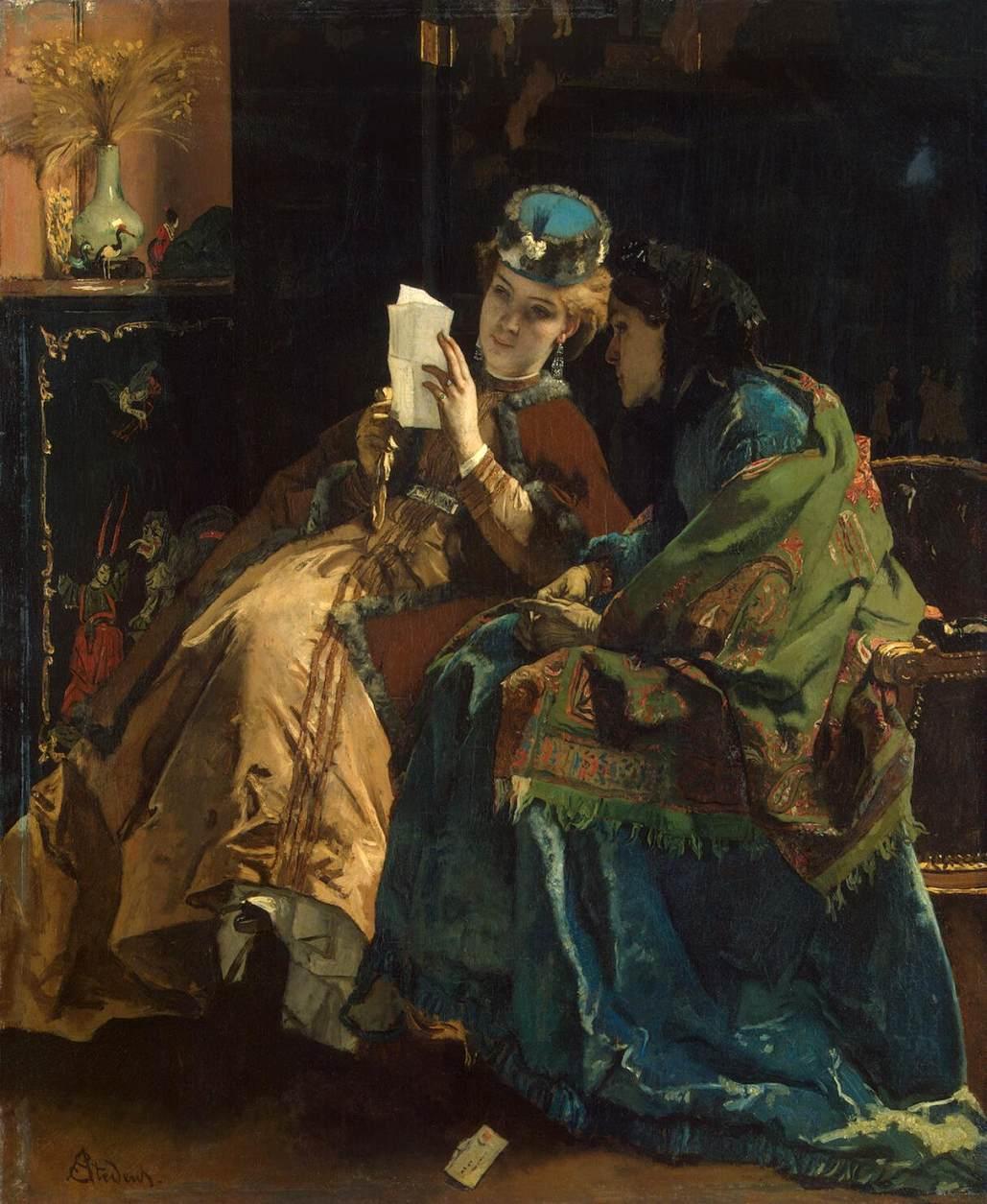 Pleasant Letter - Alfred Stevens