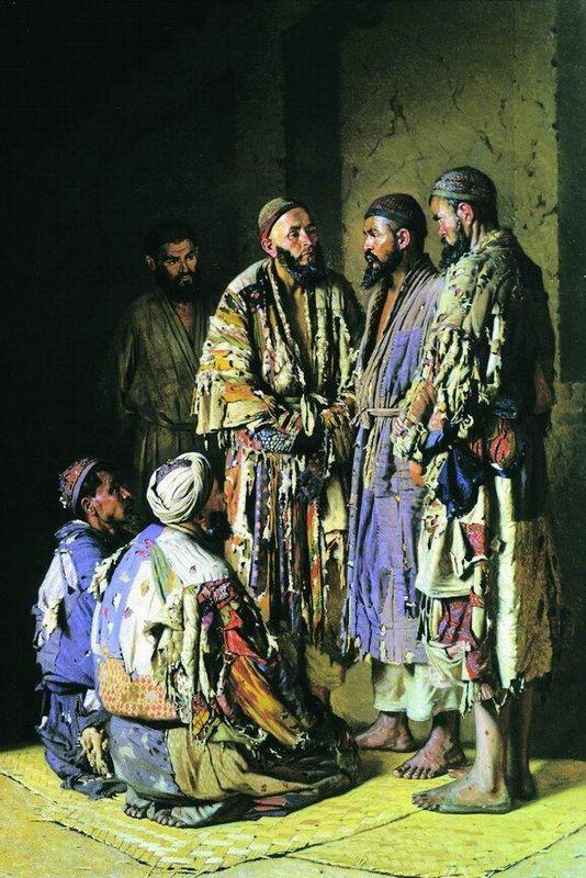 Politicians in opium shop. Tashkent. - Vasily Vereshchagin