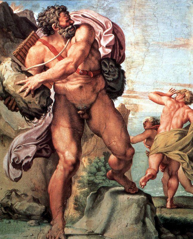 Polyphemus Attacking Acis and Galatea - Annibale Carracci