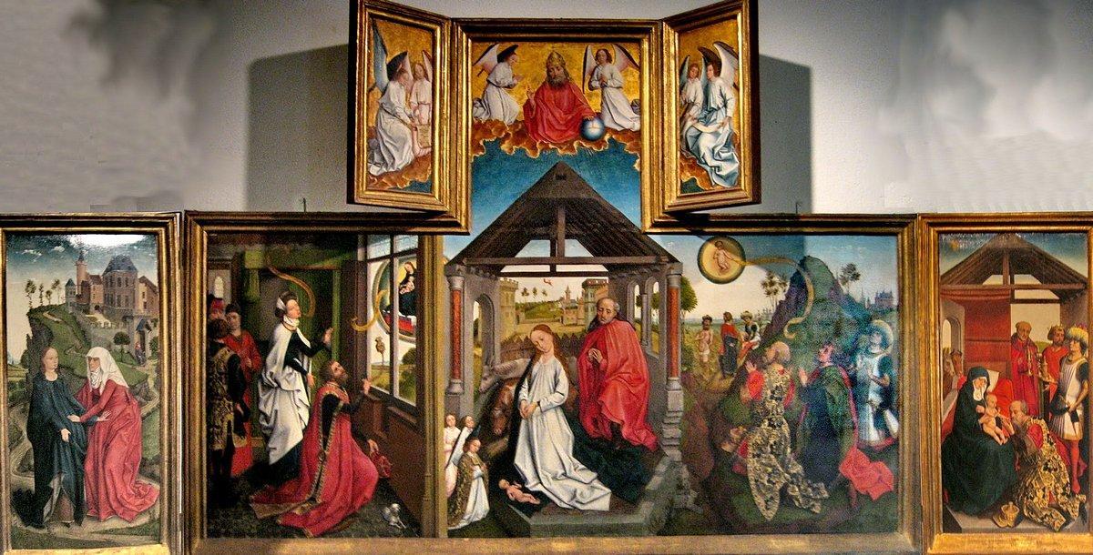 Polyptych with the Nativity - Rogier van der Weyden
