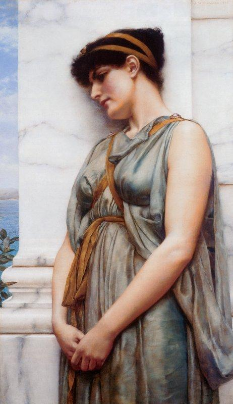 Pompeian Girl - John William Godward