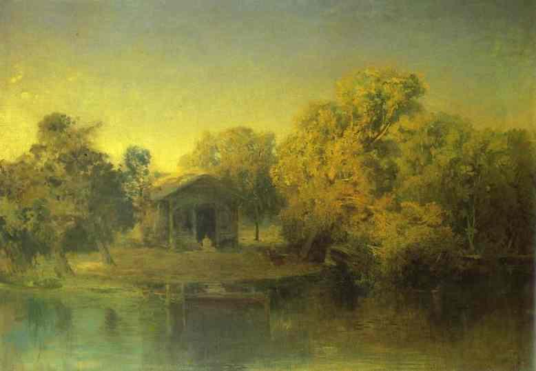 Pond at the Sunset - Fyodor Vasilyev
