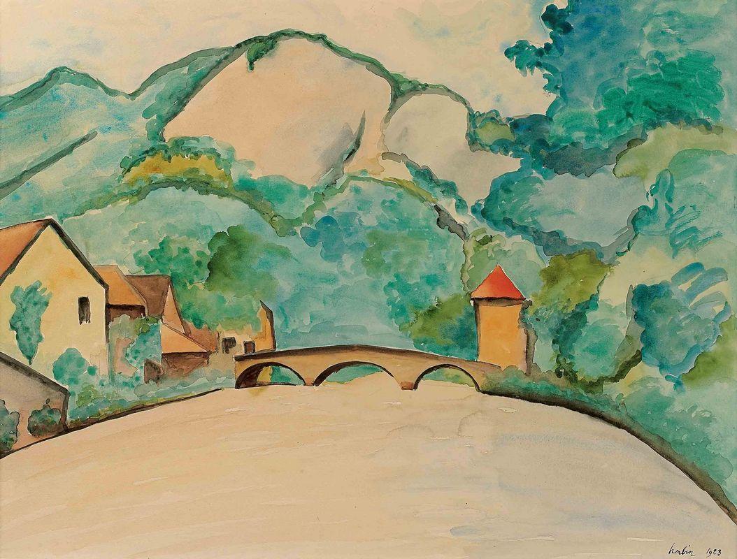 Pont sur la Loue a Moutier  - Auguste Herbin