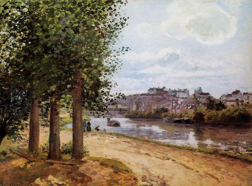 Pontoise banks of the Oise - Camille Pissarro