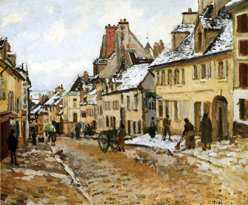 Pontoise, the Road to Gisors in Winter - Camille Pissarro