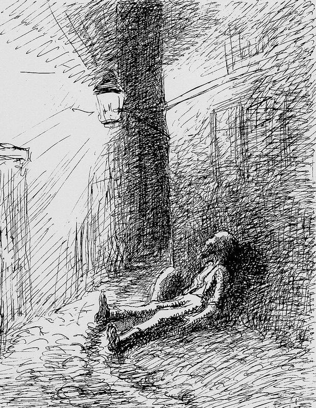 Poor John - Camille Pissarro
