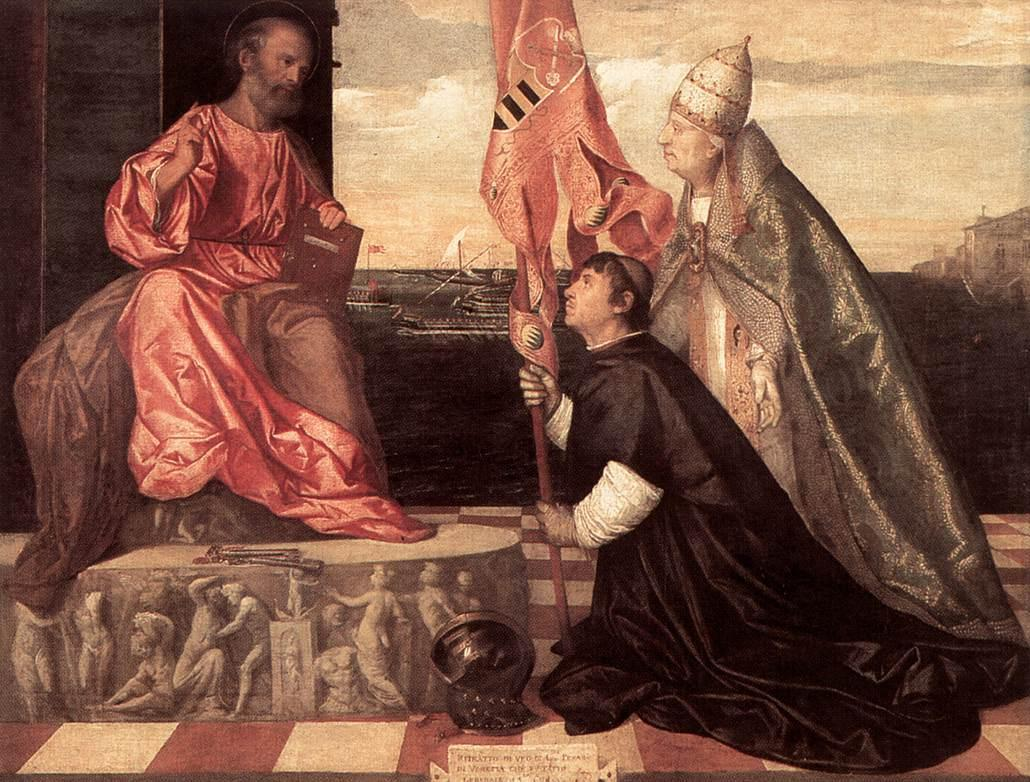 Pope Alexander IV Presenting Jacopo Pesaro to St Peter - Titian