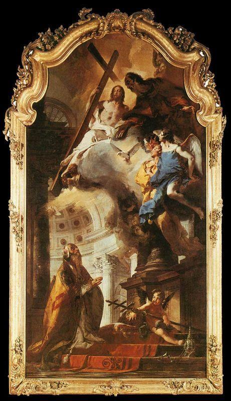 Pope St Clement Adoring the Trinity - Giovanni Battista Tiepolo