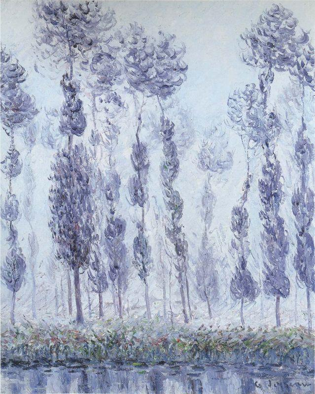 Poplars by the Eure River - Gustave Loiseau