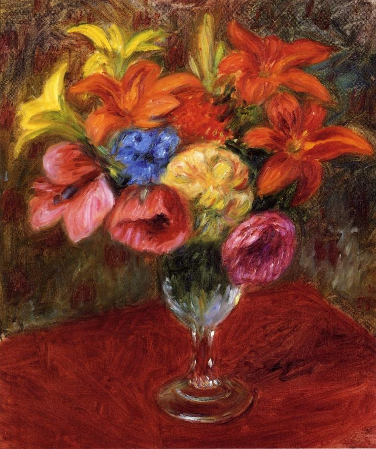 Poppies, Lilies and Blue Flowers - William James Glackens