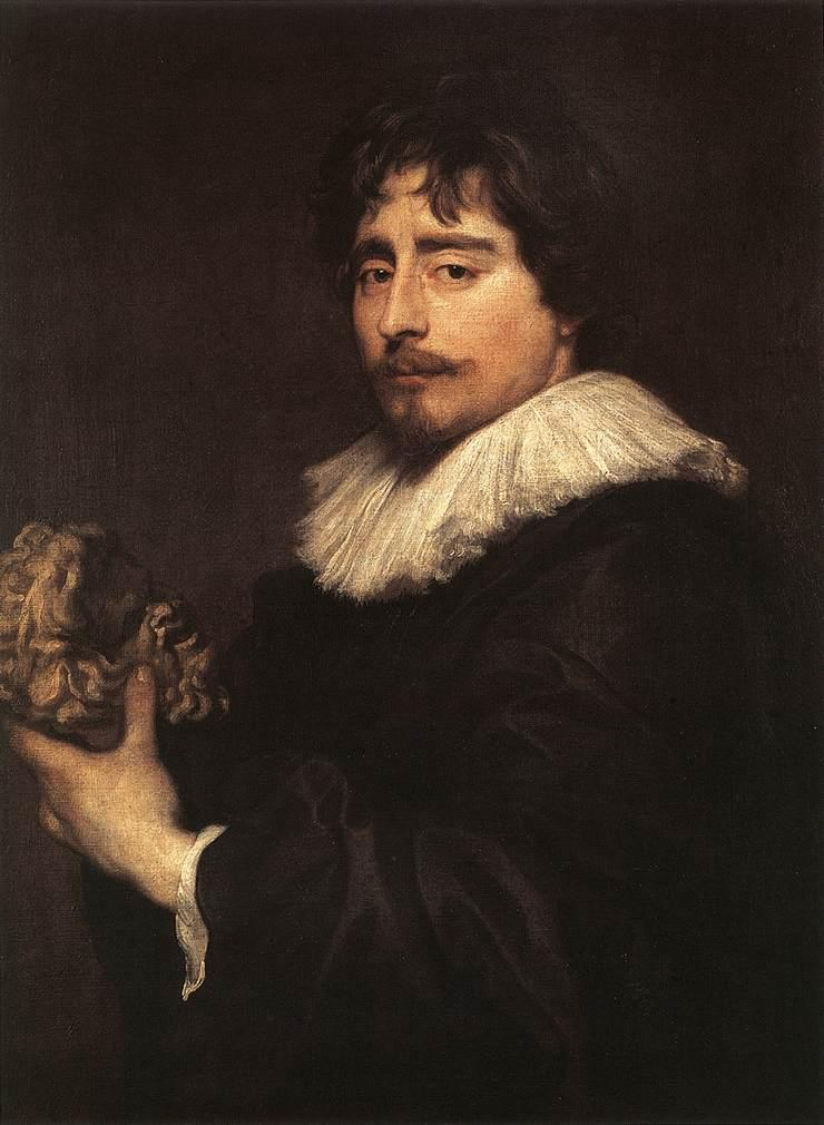 Porrtrait of the Sculptor Duquesnoy - Anthony van Dyck