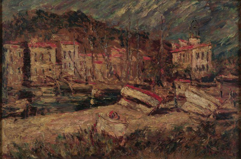 Port of Cassis - Adolphe Joseph Thomas Monticelli