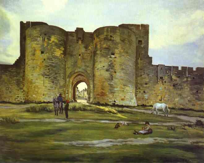 Port of the Queen at Aigues-Mortes - Frederic Bazille