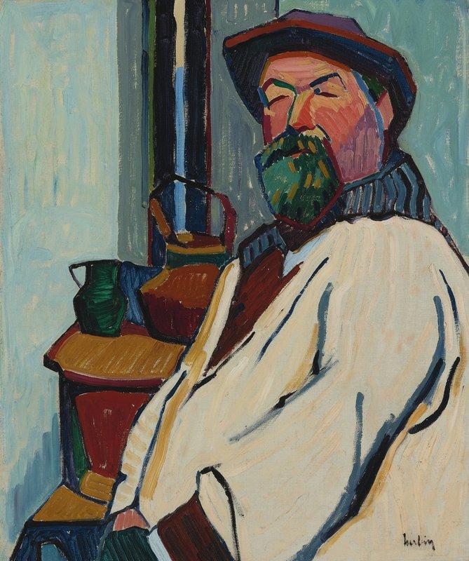 Portrait du peintre Mathieu Battaglia  - Auguste Herbin