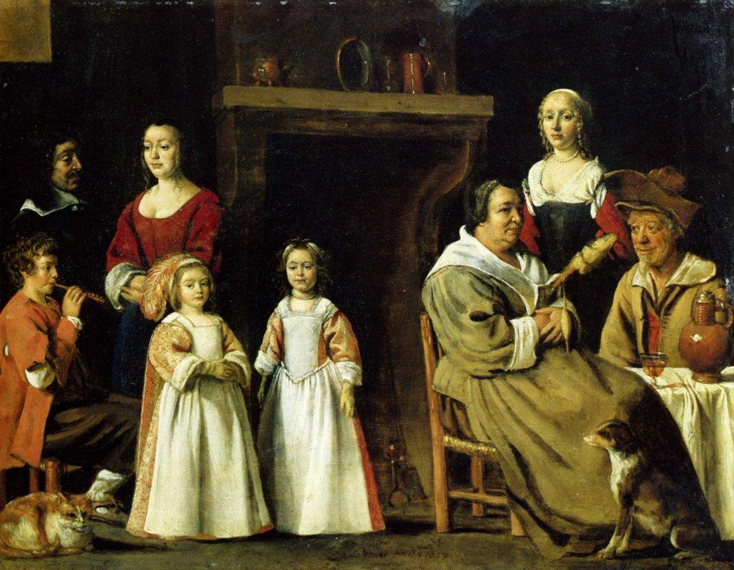 Portrait in an interior - Le Nain brothers