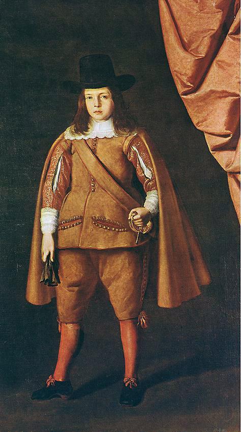 Portrait of a boy (The Duke of Medinaceli)  - Francisco de Zurbaran