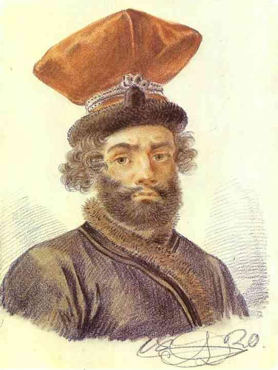 Portrait of a Cabman - Alexander Orlowski