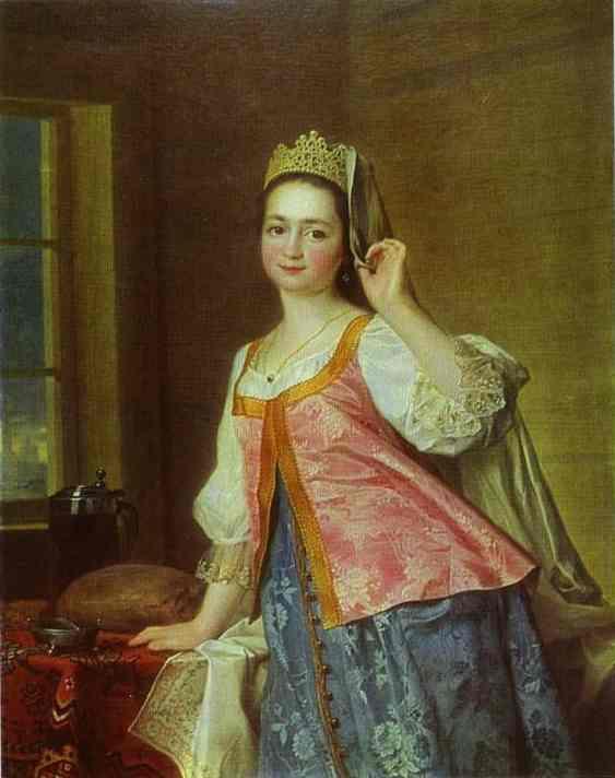 Portrait of A. D. Levitzkaya, Artist s Daughter - Dmitry Levitzky