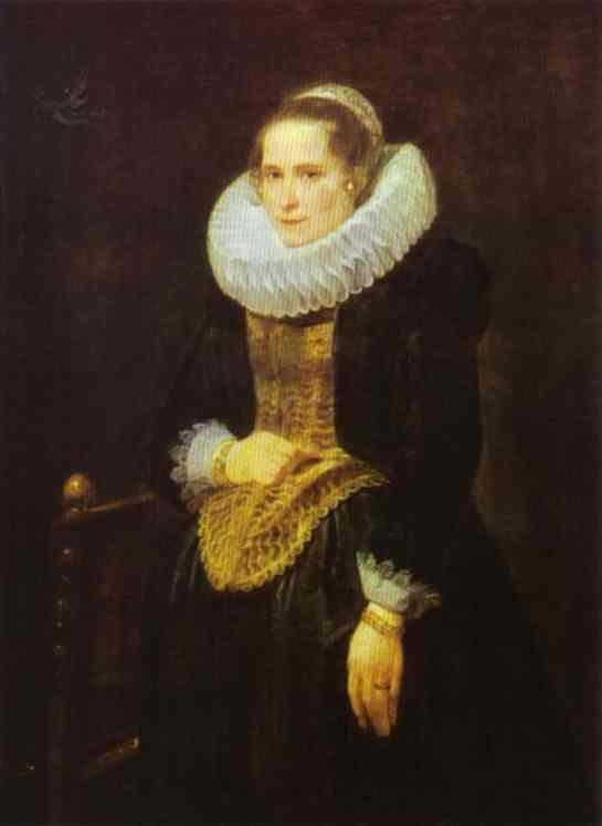 Portrait of a Flemish Lady - Anthony van Dyck