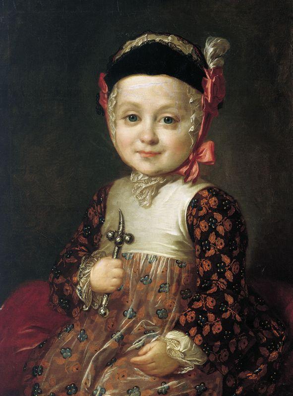 Portrait of Count Alexey Bobrinsky as a Child - Fyodor Rokotov