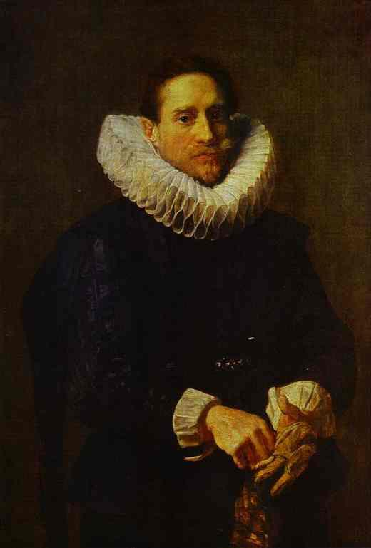 Portrait of a Gentleman, Putting on his Gloves - Anthony van Dyck