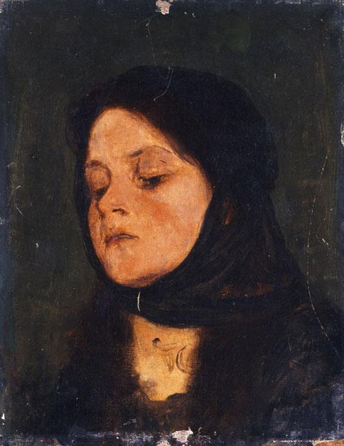 Portrait of a girl - Nikolaos Gyzis