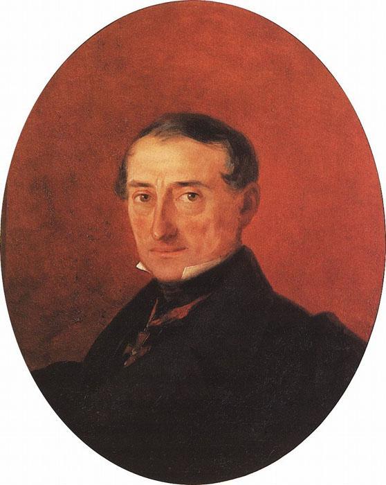 Portrait of A I Kaznacheev - Ivan Aivazovsky