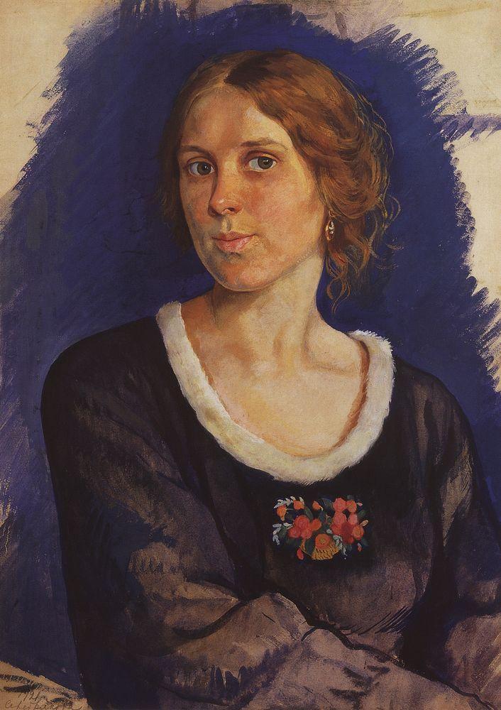 Portrait of A.I. Kunina - Zinaida Serebriakova