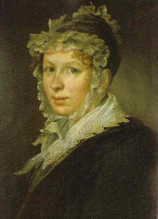 Portrait of A. I. Tropinina, the Artist`s Wife - Vasily Tropinin