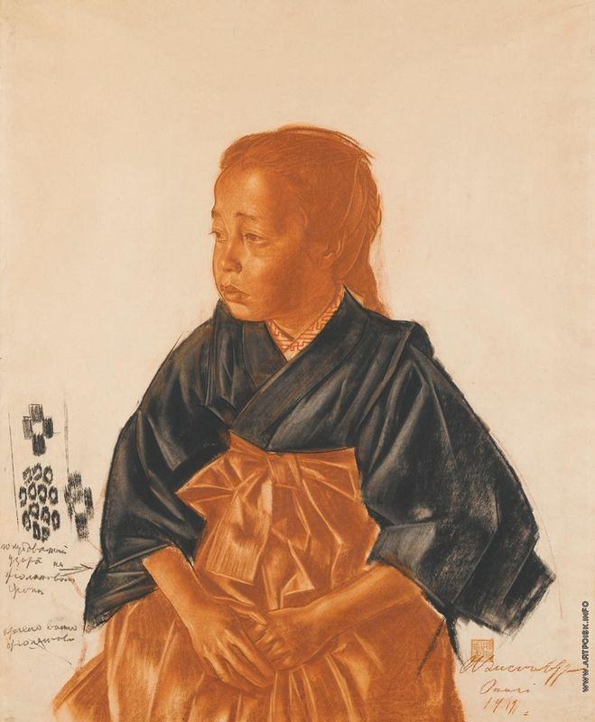 Portrait of a Japanese girl  - Alexandre Jacovleff