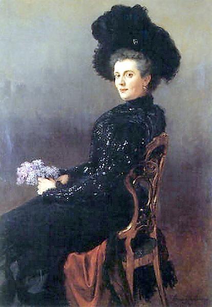 Portrait of a Lady in Chair - Nikolay Bogdanov-Belsky