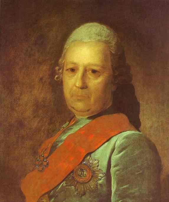 Portrait of A.M.Obreskov - Fyodor Rokotov