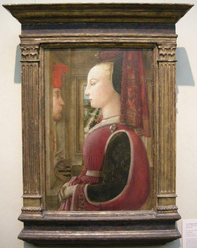 Portrait of a Man and Woman at a Casement - Filippo Lippi