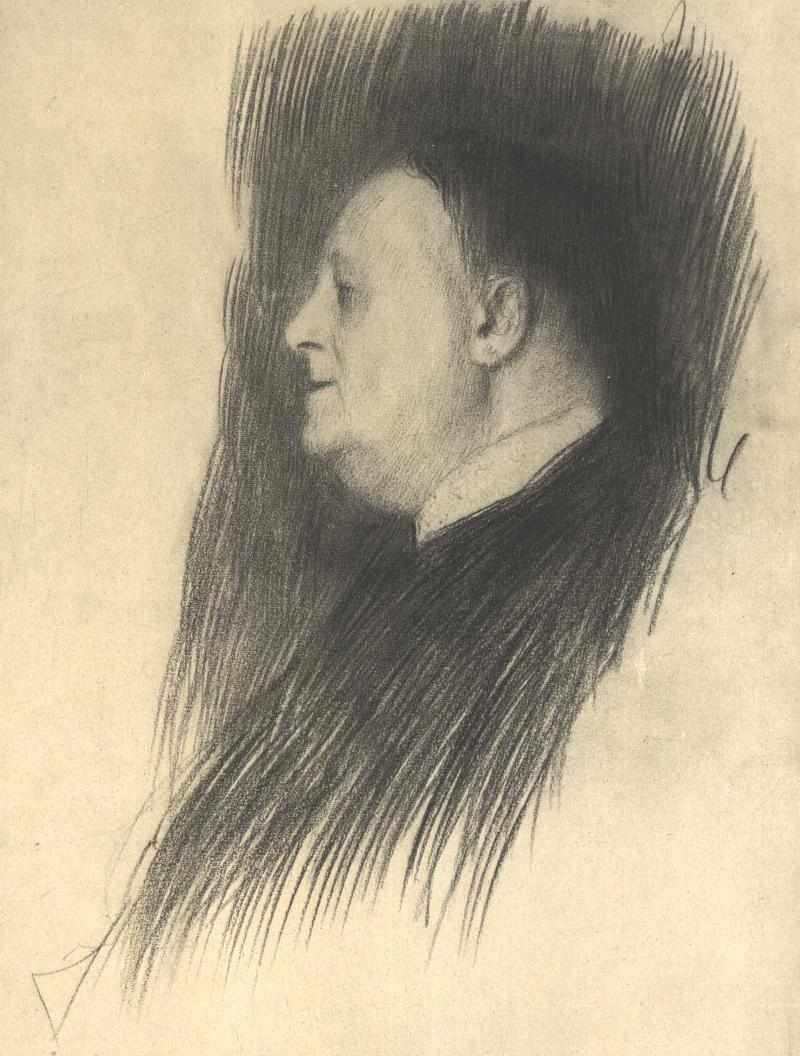 Portrait of a man heading left - Gustav Klimt