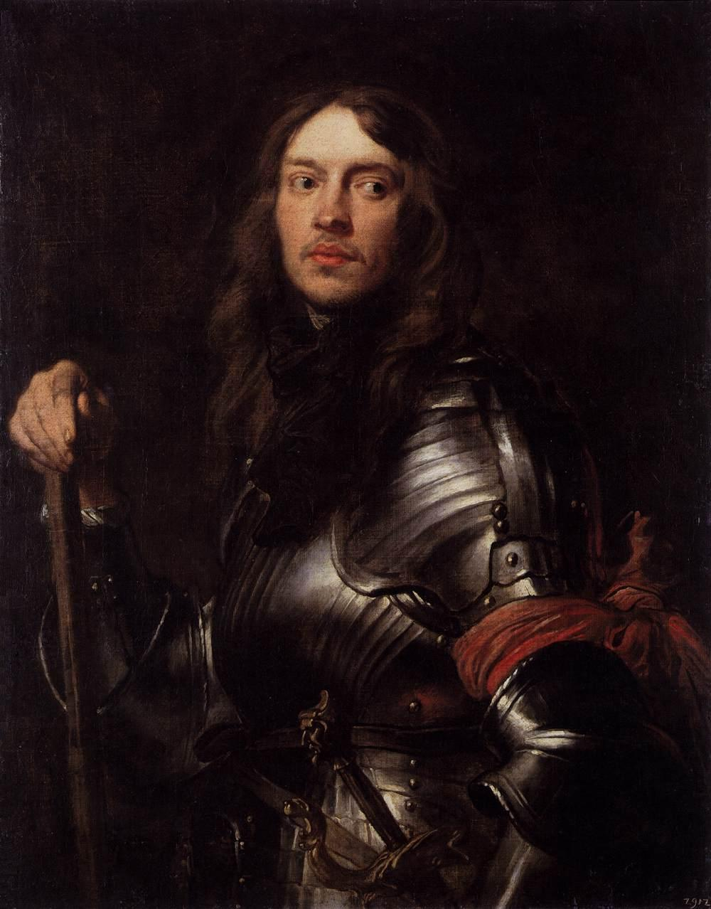Portrait of a Man in Armour with Red Scarf - Anthony van Dyck
