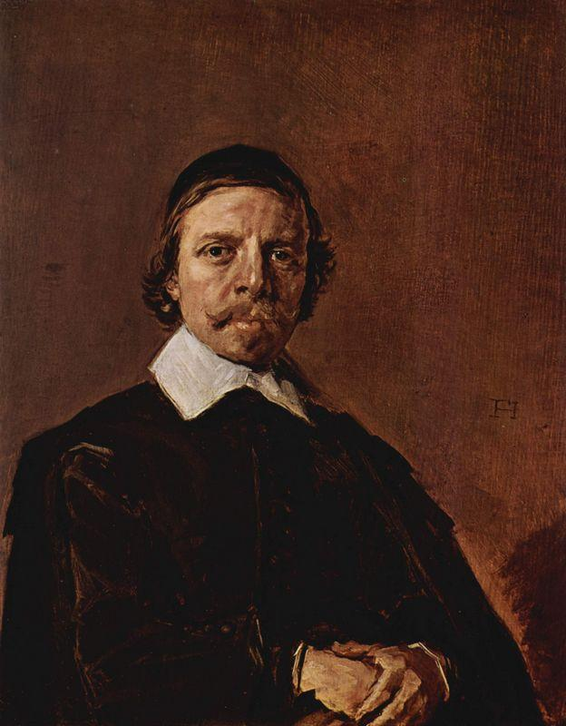 Portrait of a Man, possibly a minister - Frans Hals